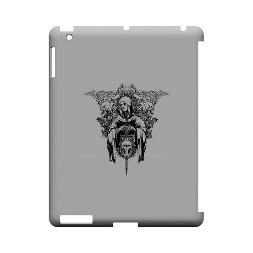 Inkfection on Gray - Geeks Designer Line Tattoo Series Hard Case for Apple iPad (3rd & 4th Gen.)
