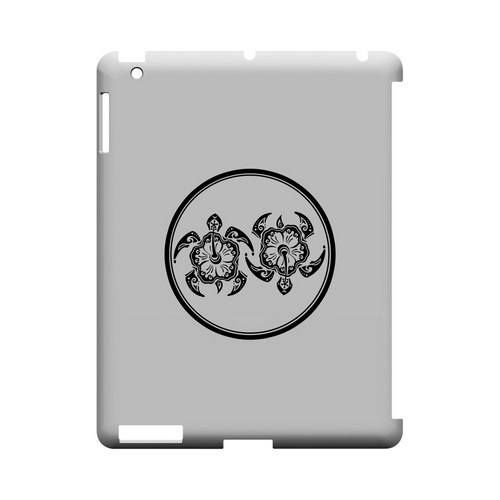 Island Turtle Duo - Geeks Designer Line Tattoo Series Hard Case for Apple iPad (3rd & 4th Gen.)
