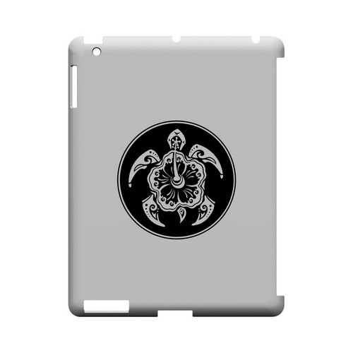 Island Turtle Solo - Geeks Designer Line Tattoo Series Hard Case for Apple iPad (3rd & 4th Gen.)