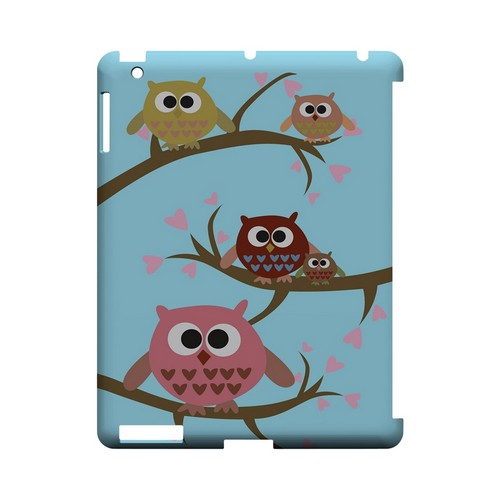 Round Owl Hangout - Geeks Designer Line (GDL) Owl Series Hard Back Cover for Apple iPad (3rd & 4th Gen.)