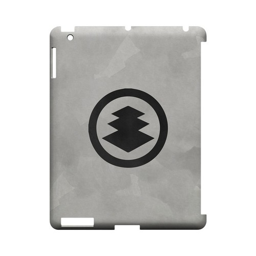 Hishi Kamon on Paper - Geeks Designer Line Tattoo Series Hard Case for Apple iPad (3rd & 4th Gen.)