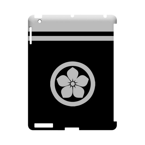 White Kikyo Kamon w/ Stripe v.2 - Geeks Designer Line Tattoo Series Hard Case for Apple iPad (3rd & 4th Gen.)