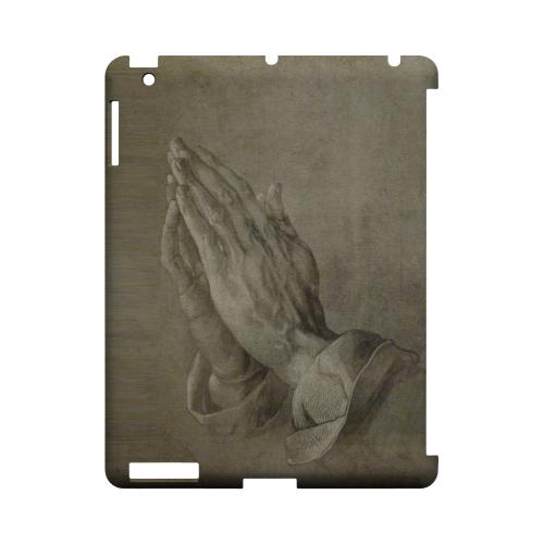 Albrecht Durer Praying Hands Geeks Designer Line Artist Series Slim Hard Case for Apple iPad (3rd & 4th Gen.)