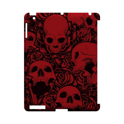 Skulls Rose Red/ Black - Geeks Designer Line Tattoo Series Hard Case for Apple iPad (3rd & 4th Gen.)