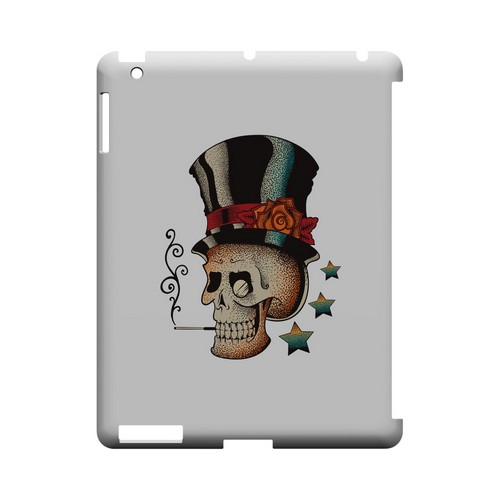 Smoking Skull on White - Geeks Designer Line Tattoo Series Hard Case for Apple iPad (3rd & 4th Gen.)
