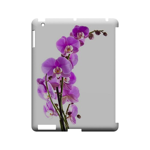 Violet Orchid Rising - Geeks Designer Line Floral Series Hard Case for Apple iPad (3rd & 4th Gen.)