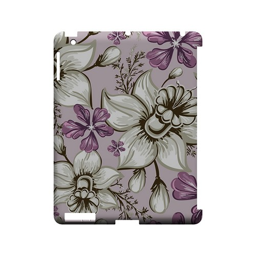 White and Violet Orchids - Geeks Designer Line Floral Series Hard Case for Apple iPad (3rd & 4th Gen.)