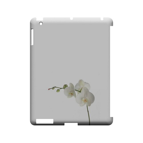 Simple White Orchid - Geeks Designer Line Floral Series Hard Case for Apple iPad (3rd & 4th Gen.)