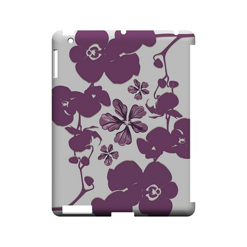 Purple Orchids - Geeks Designer Line Floral Series Hard Case for Apple iPad (3rd & 4th Gen.)