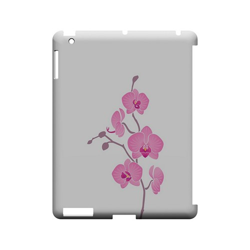 Pink Minimal Orchid Art - Geeks Designer Line Floral Series Hard Case for Apple iPad (3rd & 4th Gen.)