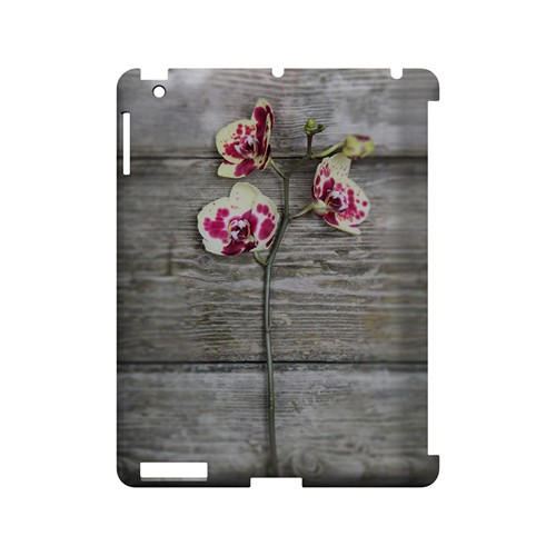Orchid on Wood - Geeks Designer Line Floral Series Hard Case for Apple iPad (3rd & 4th Gen.)