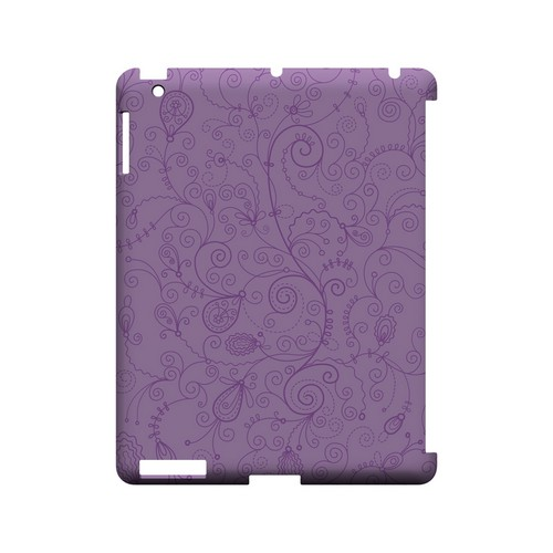 Floral 1 African Violet - Geeks Designer Line Pantone Color Series Hard Case for Apple iPad (3rd & 4th Gen.)