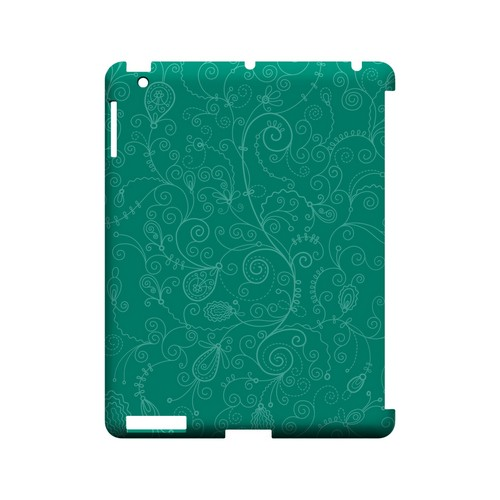 Floral 1 Emerald - Geeks Designer Line Pantone Color Series Hard Case for Apple iPad (3rd & 4th Gen.)
