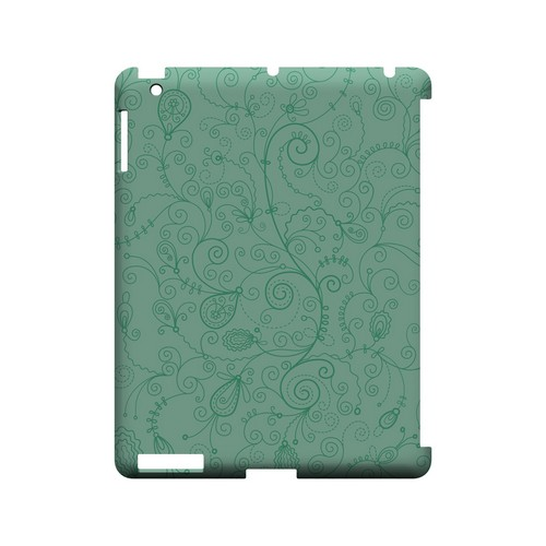 Floral 1 Grayed Jade - Geeks Designer Line Pantone Color Series Hard Case for Apple iPad (3rd & 4th Gen.)