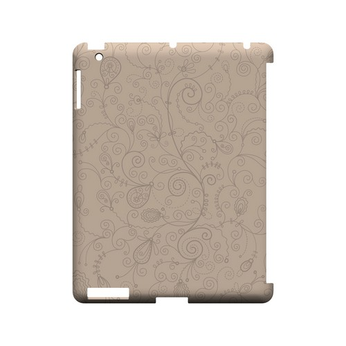 Floral 1 Linen - Geeks Designer Line Pantone Color Series Hard Case for Apple iPad (3rd & 4th Gen.)