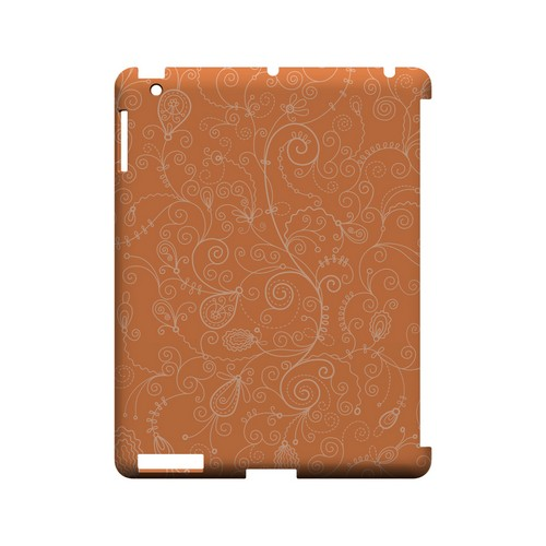 Floral 1 Nectarine - Geeks Designer Line Pantone Color Series Hard Case for Apple iPad (3rd & 4th Gen.)