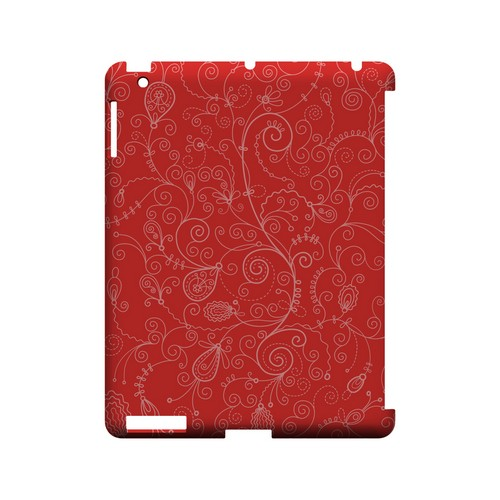 Floral 1 Poppy Red - Geeks Designer Line Pantone Color Series Hard Case for Apple iPad (3rd & 4th Gen.)