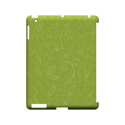 Floral 1 Tender Shoots - Geeks Designer Line Pantone Color Series Hard Case for Apple iPad (3rd & 4th Gen.)