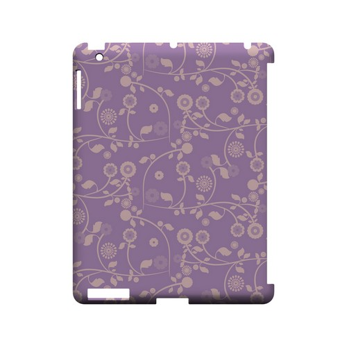 Floral 2 African Violet - Geeks Designer Line Pantone Color Series Hard Case for Apple iPad (3rd & 4th Gen.)