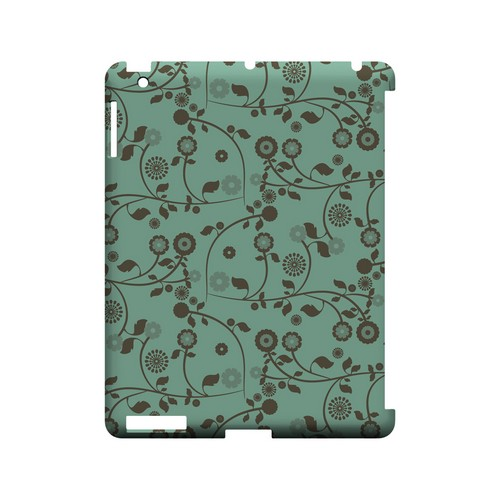 Floral 2 Grayed Jade - Geeks Designer Line Pantone Color Series Hard Case for Apple iPad (3rd & 4th Gen.)