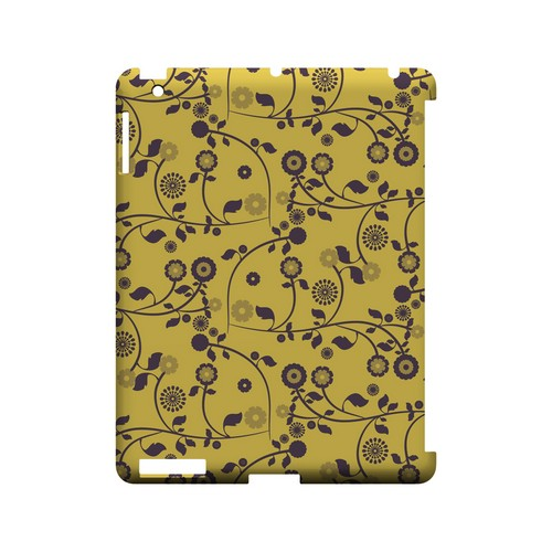Floral 2 Lemon Zest - Geeks Designer Line Pantone Color Series Hard Case for Apple iPad (3rd & 4th Gen.)
