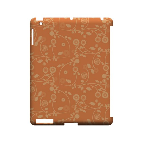 Floral 2 Nectarine - Geeks Designer Line Pantone Color Series Hard Case for Apple iPad (3rd & 4th Gen.)