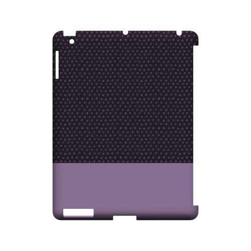 Little Circle Dots African Violet - Geeks Designer Line Pantone Color Series Hard Case for Apple iPad (3rd & 4th Gen.)