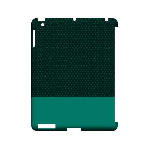 Little Circle Dots Emerald - Geeks Designer Line Pantone Color Series Hard Case for Apple iPad (3rd & 4th Gen.)