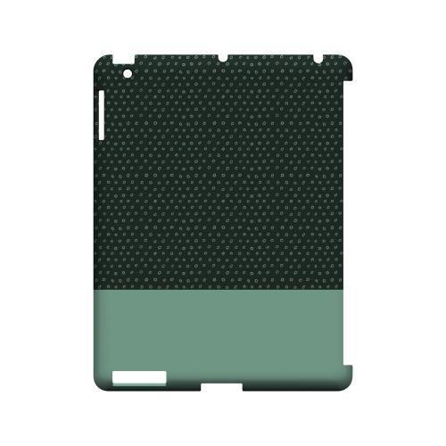 Little Circle Dots Grayed Jade - Geeks Designer Line Pantone Color Series Hard Case for Apple iPad (3rd & 4th Gen.)
