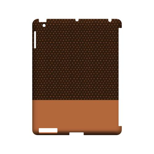 Little Circle Dots Nectarine - Geeks Designer Line Pantone Color Series Hard Case for Apple iPad (3rd & 4th Gen.)
