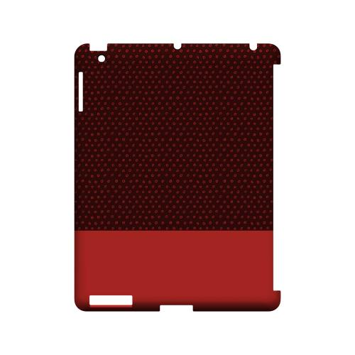 Little Circle Dots Poppy Red - Geeks Designer Line Pantone Color Series Hard Case for Apple iPad (3rd & 4th Gen.)