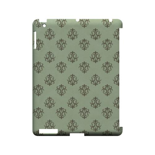 Ornamental Grayed Jade - Geeks Designer Line Pantone Color Series Hard Case for Apple iPad (3rd & 4th Gen.)