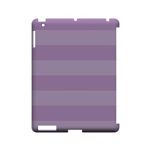 Stripes African Violet - Geeks Designer Line Pantone Color Series Hard Case for Apple iPad (3rd & 4th Gen.)