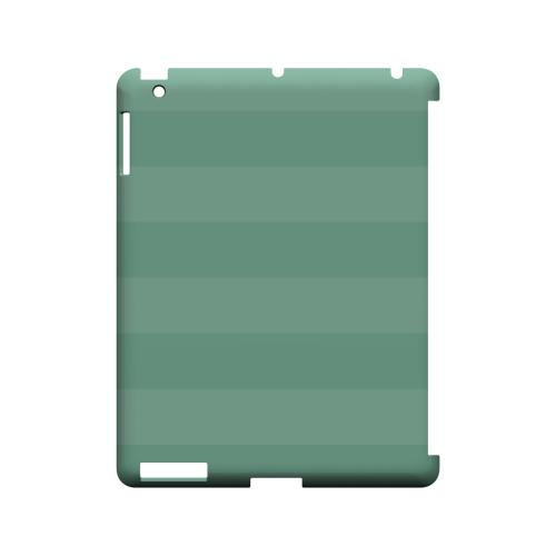 Stripes Grayed Jade - Geeks Designer Line Pantone Color Series Hard Case for Apple iPad (3rd & 4th Gen.)