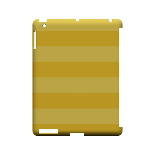Stripes Lemon Zest - Geeks Designer Line Pantone Color Series Hard Case for Apple iPad (3rd & 4th Gen.)