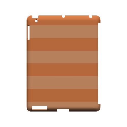 Stripes Nectarine - Geeks Designer Line Pantone Color Series Hard Case for Apple iPad (3rd & 4th Gen.)