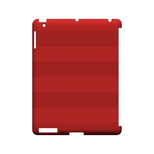 Stripes Poppy Red - Geeks Designer Line Pantone Color Series Hard Case for Apple iPad (3rd & 4th Gen.)