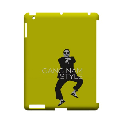 Yellow Gangnam Style - Geeks Designer Line Slim Back Cover for Apple iPad (3rd & 4th Gen.)