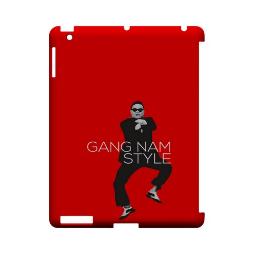 Red Gangnam Style - Geeks Designer Line Slim Back Cover for Apple iPad (3rd & 4th Gen.)