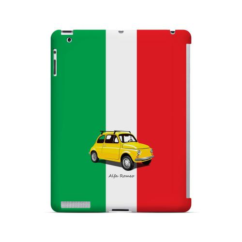 Yellow Alfa Romeo on Green/ White/ Red - Geeks Designer Line Auto Series Hard Case for Apple iPad (3rd & 4th Gen.)