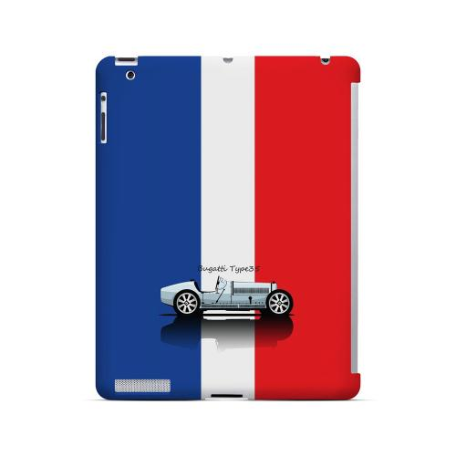 Bugatti Type 35S on Blue/ White/ Red - Geeks Designer Line Auto Series Hard Case for Apple iPad (3rd & 4th Gen.)