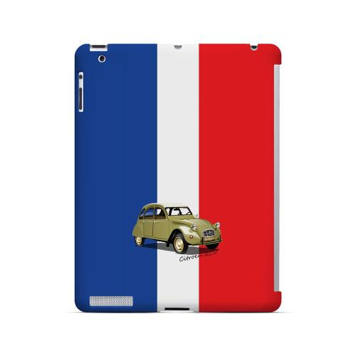 Citroen 2CV on Blue/ White/ Red - Geeks Designer Line Auto Series Hard Case for Apple iPad (3rd & 4th Gen.)