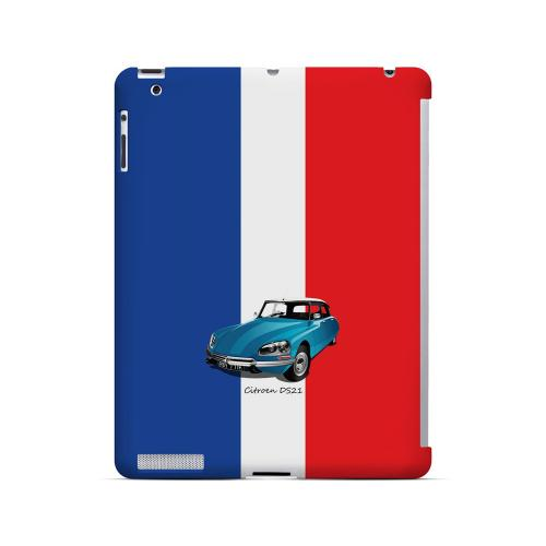 Citroen DS21 on Blue/ White/ Red - Geeks Designer Line Auto Series Hard Case for Apple iPad (3rd & 4th Gen.)