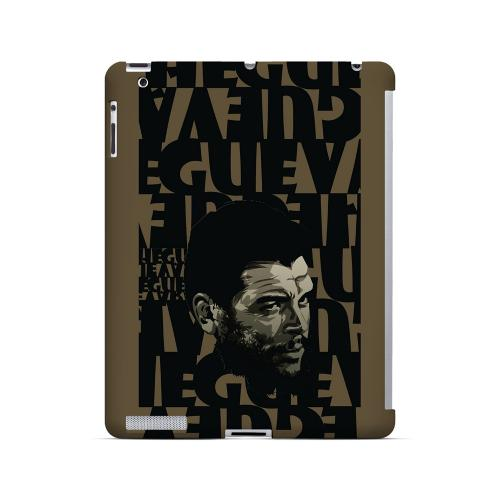 Che Guevara Serious Man on Brown - Geeks Designer Line Revolutionary Series Hard Case for Apple iPad (3rd & 4th Gen.)