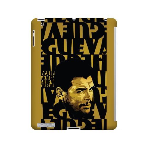 Che Guevara Serious Man on Gold - Geeks Designer Line Revolutionary Series Hard Case for Apple iPad (3rd & 4th Gen.)