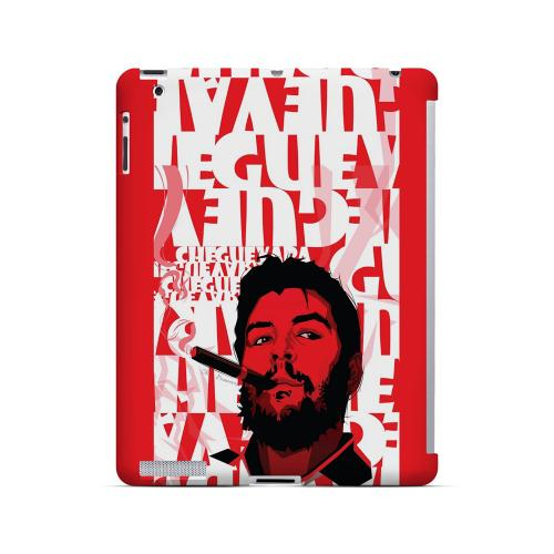 Che Guevara Smoke Red - Geeks Designer Line Revolutionary Series Hard Case for Apple iPad (3rd & 4th Gen.)