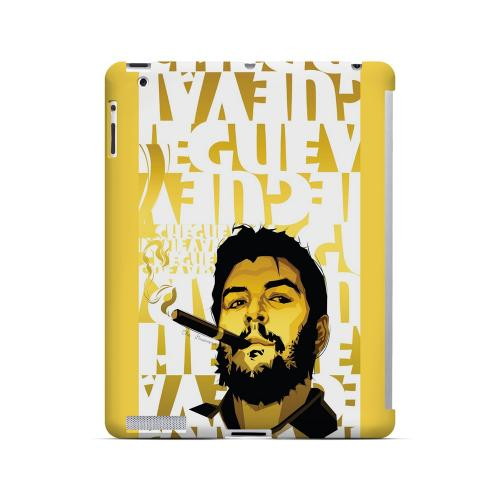 Che Guevara Smoke White Letters on Gold - Geeks Designer Line Revolutionary Series Hard Case for Apple iPad (3rd & 4th Gen.)