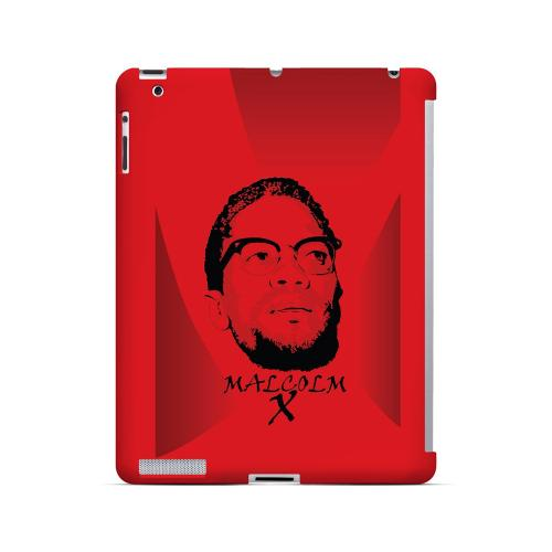 Malcolm X in the Middle on Red - Geeks Designer Line Revolutionary Series Hard Case for Apple iPad (3rd & 4th Gen.)