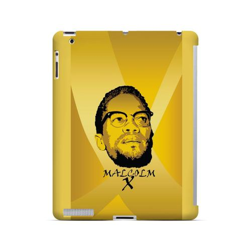Malcolm X in the Middle on Yellow - Geeks Designer Line Revolutionary Series Hard Case for Apple iPad (3rd & 4th Gen.)