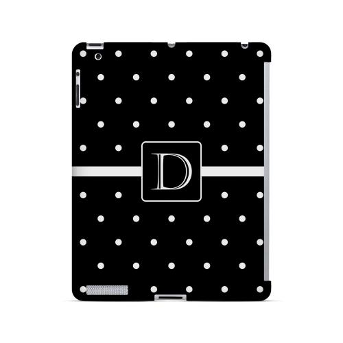 D on Classic Mini Polka Dots - Geeks Designer Line Monogram Series Hard Case for Apple iPad (3rd & 4th Gen.)